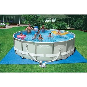 """Intex Above Ground 16 ft x 48"""" Ultra Frame Swimming Pool New Orig PKNG A Gift"""