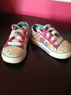 Toddler Girls Skechers Twinkle Toes Light Up Shoes Size 6