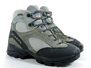 Scarpa ZG 7 M Womens Boots Light Blue Suede Leather Hiking Trail Outdoor Goretex