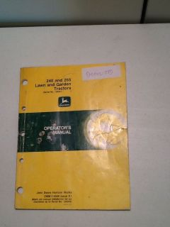 John Deere 240 and 265 Lawn and Gardens Tractors Manual 'OEM'