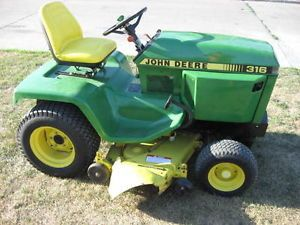Very Nice John Deere 316 Garden Tractor Lawn Mower Hydrauli Lift Repainted