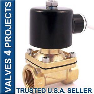 """3 4"""" Electric Solenoid Valve 24 Volt AC Air Water B21N"""