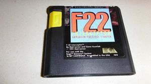 F22 F 22 Interceptor Advanced Tactical Fighter Sega Genesis EXMT Game Cartridge  014633070156