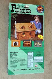 Pioneer Real Wood Log Cabin Doll House Kit Duracraft Vintage New Furniture