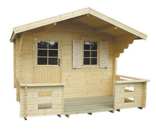 Cabin Kit Lillevilla Weekender Shed Log Cabin Garden House Storage