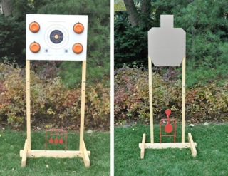 Portable Target Stand 5ft w Bird Board Clips Reactive Target Holder IPSC