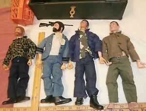 Four Vintage Gi Joe Action Figures Foot Locker