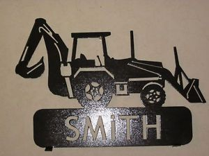 Backhoe Mailbox Topper Metal Art Plasma Art Sign