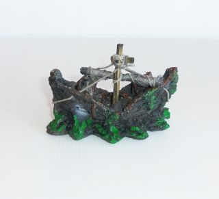 Aquarium Fish Tank Pirate Ornaments – Pirate Sunken SHIP S