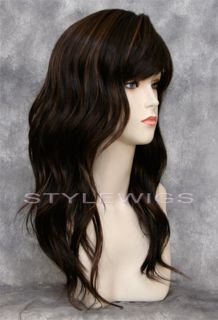 Long Brown Blonde Mix Wig