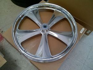"26"" inch Chrome Wheel Tire Street Road Glide King FOOSE Front Harley 26 Bagger"