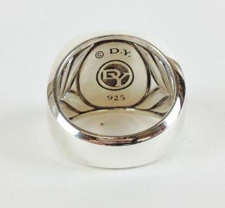 Authentic David Yurman Black Onyx Sterling Silver 925 Men's Ring