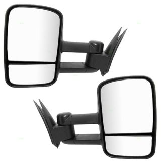 New Pair Set Manual Telescopic Tow Side Mirrors 99 07 Chevy GMC Pickup Truck