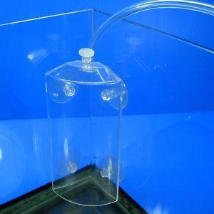 Ista CO2 Diffuser Corner Fits Suction Cup 4 6mm Air Line Tube Aquarium Solenoid