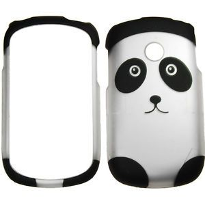 For LG 800G Tracfone Rubberized 2D Design Panda Bear Case Cover Protect
