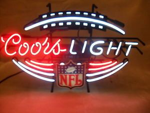 W1405 coors light cap beer bar neon light sign coors light nfl football neon sign bar sign pub sign man cave good working cond mozeypictures Choice Image
