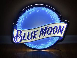 Blue Moon Neon LED Beer Bar Lighted Sign