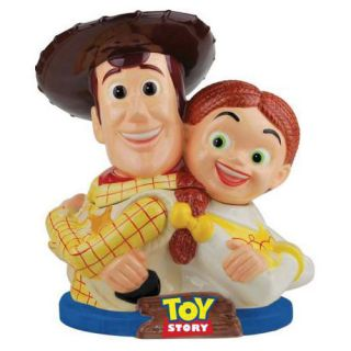 Disney Western Cowboy Cowgirl Toy Story Woody Jessie Ceramic Cookie Jar