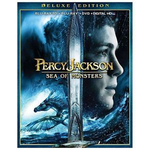 Percy Jackson Sea of Monsters BLURAY3D 2D DVD Digital HD 2013 Brand New SEALED 024543867814