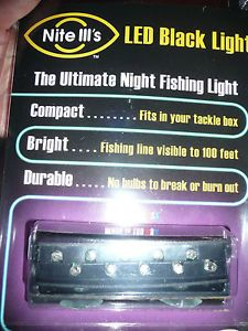 Nite III's LED Black Light Ultimate Night Fishing Light Compact Bright Durable