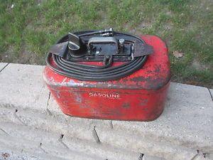 Vintage Johnson Evinrude Outboard Motor Dual 2 Line Hose Pressure Fuel Gas Tank