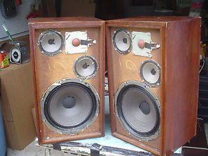 Vintage Fisher XP 7 3 Way 4 Speaker Large Walnut Stereo Speakers Refurbished