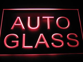 B123 Auto Glass Car Parts Repairs New Neon Light Sign