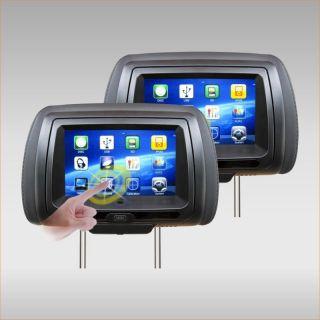 "TView T99DVTSBK Black Touch Screen 9"" Car Headrest Monitor Screens w DVD Players"