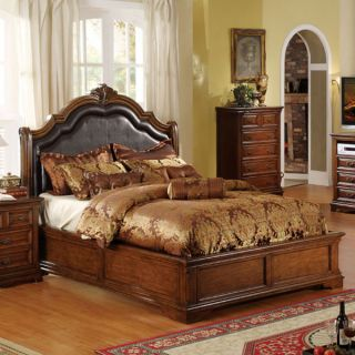 Elizabeth Queen Size Tobacco Oak Finish Bed Frame