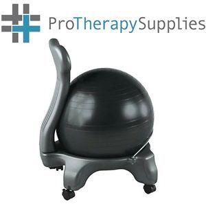 Gaiam Black Ergonomic Sitting Balance Ball Chair Back Pain Relief Office Chair  sc 1 st  PopScreen & Gaiam Black Ergonomic Sitting Balance Ball Chair Back Pain Relief ...