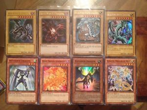 Yugioh 2X Red Eyes B Dragon 2X Blue Eyes White Dragon Exploder Dragon More