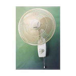 "Lasko 16"" Oscillating Wall Mount Fan 3 Speed 3 Prong Grounded Cord Set OSHA App"