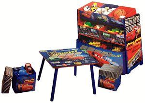 Disney Cars Table Ottomans Toy Organizer Set