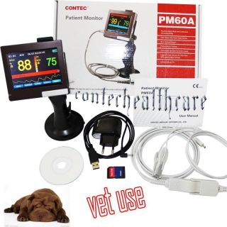 CE APPROVE PM60A SPO2 PR Veterinary Monitor 3 5''TFT Touch Screen