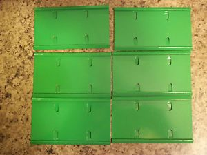 """6 Bright Green 5"""" Cage Name Plate Holders Rabbit Ferret Bird Cage Pet Parts"""