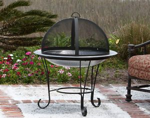 New Outdoor Fire Pit Stainless Steel Patio Camping Grill Wood Stove BBQ