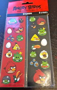 8 Sheets Strip Angry Birds Stickers Party Favors Teacher Supply