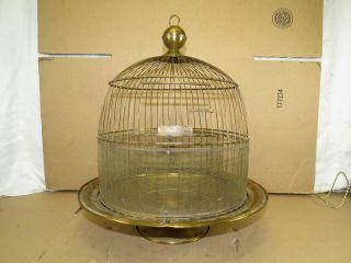 Hendryx Antique Brass Bird Cage Vintage Hanging or Stand Alone Vintage