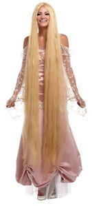 "60"" inch Super Long Blonde Rapunzel Wig 5' Foot Lady Godiva Christmas Costume"