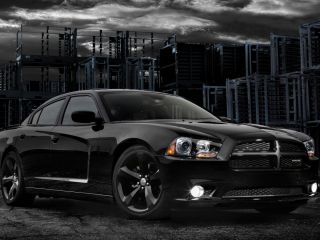 4 2013 Factory Dodge Challenger Charger Blacktop 20 inch Black Wheels Tires