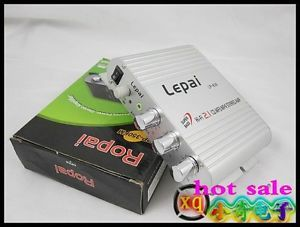 Lepai Brand LP 838 3 Channel Mini Power Amplifier Subwoofer Out DC12V Promotion