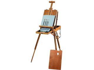 Acrylic Paint Art Artist Sketchbox Easel Kit Set Paints Brushes Canvas Panel