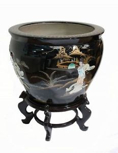 Oriental Fish Bowl Stand Oriental Furniture Chinese Feng Shui Hand Painted