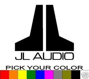 "JL Audio 4"" Logo Decal Sticker Vinyl Car Window Bass W7"
