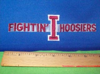 "Indiana Fightin' Hoosiers NCAA College 6 5"" Logo Patch"