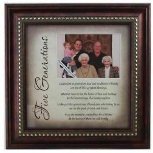 5 Generation Family Poem Frame Gift New Grandparent