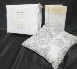Vivah Bella Ralph Lauren Sheets Shams A Decorative Pillow Lot of 4