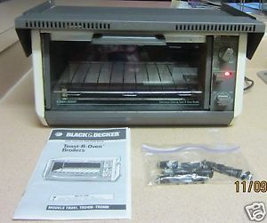 ... Black Decker Spacesaver Undercabinet Toaster Oven Model 400W Mounting  Hood ...