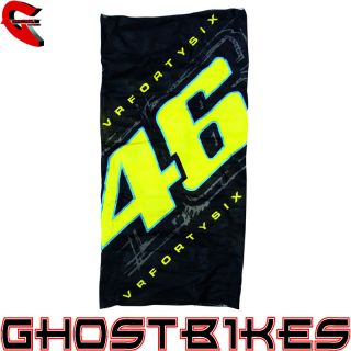 Valentino Rossi VR46 Number 46 Neck Tube Balaclava Official Moto GP Merchandise