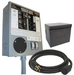 Generac 6294 30 Amp 6 10 Circuit Manual Portable Generator Transfer Switch Kit